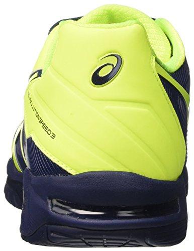 Asics Herren Gel-Solution Speed 3 Tennisschuhe Blau (Indigo Blue/safety Yellow)