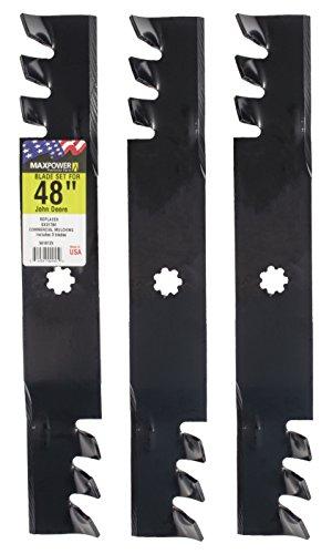 Maxpower 561812x Commerciale pacciamatura Lama Set per Taglio 121,9cm John Deere sostituisce GX21784/GY20852