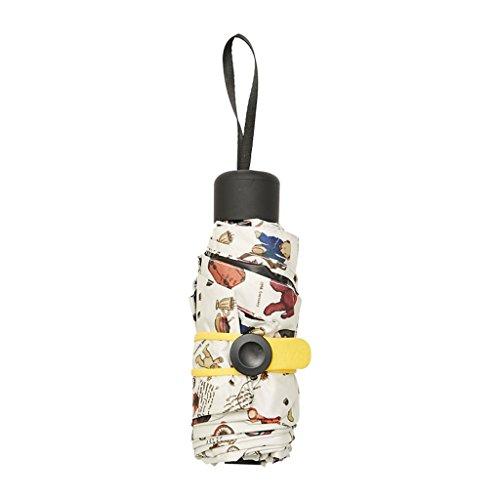 Bbf cinque ombrelli pieghevoli, mini ombrellone ultraleggero in plastica nera, otto manici rotondi osso, ombrello colorato, mini ombrello, 98cm