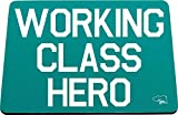 Hippowarehouse Working Class Hero Alfombrilla de ratón Impresa Accesorio Base de Goma Negra 240 mm x 190 mm x 60 mm