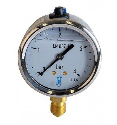 Expert by net - Druckmesser Heizöl Wasser Luft - Druckmesser Glyzerin 0-4 bar Durchmesser 63mm