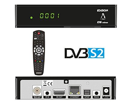 Edision OS NINO Full HD Satelliten Linux E2 Receiver (1x DVB-S2, 2x USB, HDMI, LAN, Linux, Kartenleser) schwarz