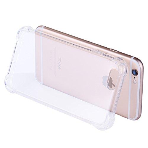 Phone Case Coque cover, Pour iPhone 6 Plus / 6s Plus, coussin anti-chocs TPU Housse de protection ( Color : Purple ) Transparent