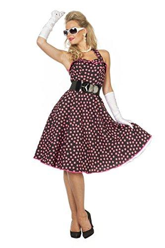 50er Jahre Damen Kostüm Rock'n Roll Kleid Karneval Fasching Gr.48