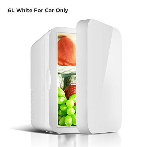 41MI5EmNErL - LiuXi Mini frigorífico, pequeño 12V Refrigerador de automóvil 220V De una sola puerta Car Home Doble uso Termoeléctrico Mini refrigerador Refrigerador Calentador para modelos de autos Car Home Modelos