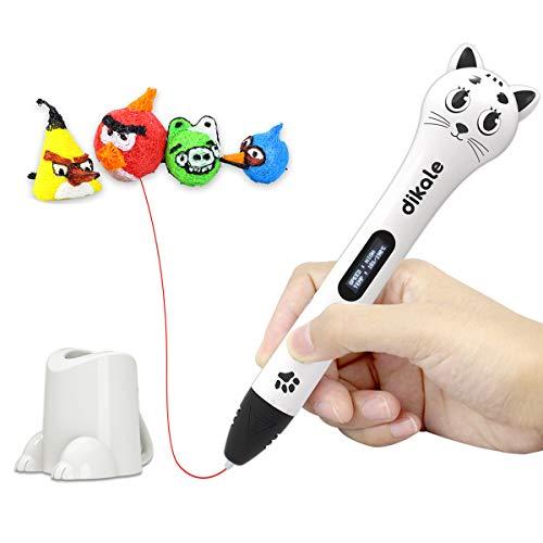 3D Stift Set für Kinder, 3D Stifte mit OLED Display, 2 x 7.5M PLA Filament + 20 Seiten Schablonen für Kritzelei, Basteln, Zeichnung, Kunstwerk, einzigartige Geburtstags-und Weihnachtsgeschenke für Kinder und Erwachsene (Ein-Tasten-Bedienung) - 9