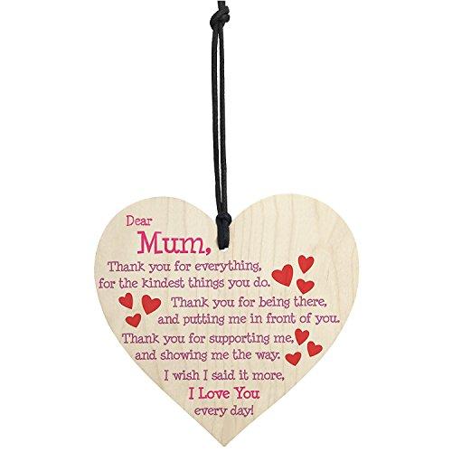 (Mother 's Day Holz Schild Decor | Rustikal Mutter 's Day Geschenk Ideen | Craft Herzform Holz Dekorationen | Mom 's Geburtstag Geschenke aus Tochter Sohn)