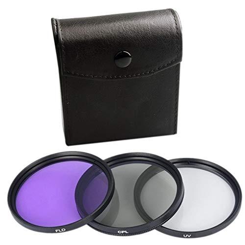 Floridivy 3pcs UV CPL FLD 3-in-1-Objektiv-Filter-Set Filterlinse Filter mit Tasche SLR-Kamera Farbe Objektiv UV-Schutz-Filter Ersatz 6