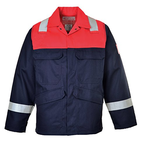 PORTWEST FR55 - Bizflame Plus Jacke, 1 Stück, 4XL, marine, FR55NAR4XL -