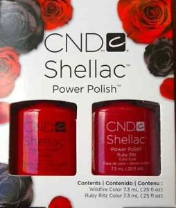CND Shellac Kit de Vernis à Ongles Ruby Ritz/Widfire