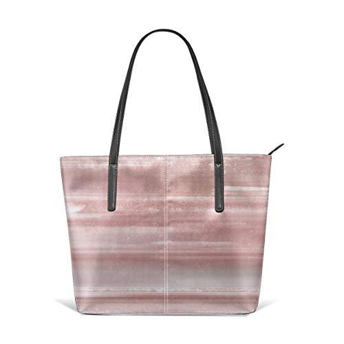 xcvgcxcbaoabo Mode Handtaschen Einkaufstasche Top Griff Umhängetaschen Geode crystal rose gold pink Leather Tote Large Purse Shoulder Bag Portable Storage HandBags Convenient Shoppers Tote