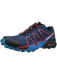 Salomon L40079700 Speedcross 4 Synthetic Trail Running Shoes, Adult (Blue)