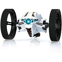 RUNHUZHINENG RH803 2.4GHz Coche Gasolina RacingJumping Sumo Juguete Coche Remote Control de Salto RTR hasta 80cm Alto/Impacto-Resistente/Interruptor de Velocidad (BLANCO)