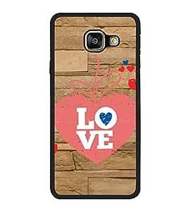 Fuson Designer Back Case Cover for Samsung Galaxy A3 (6) 2016 :: Samsung Galaxy A3 2016 Duos :: Samsung Galaxy A3 2016 A310F A310M A310Y :: Samsung Galaxy A3 A310 2016 Edition (love heart arrow couple wall lovebirds)