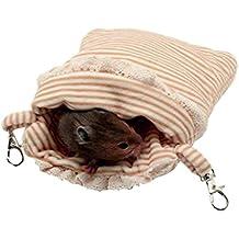 ASOCEA - Saco de Dormir para Colgar hámster, Jaula de pájaros y Accesorios para Animales