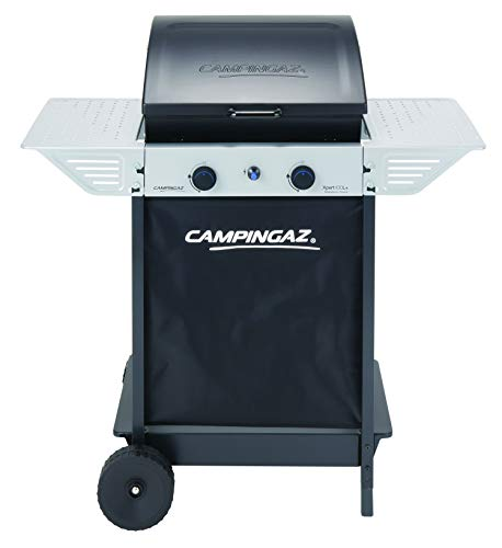 Campingaz Gasgrill Xpert 100 L Plus, kompakter BBQ Grillwagen aus Stahl mit zwei Stahlbrennern, Deckel und Thermometer