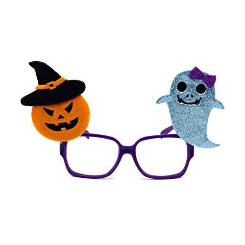 OULII Lustige Neuheit Glas Rahmen Kürbis Geist Augen Schablone Cosplay für Halloween Party Dekoration