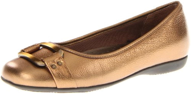 Trotters Sizzle Signature Mujer US 6.5 Bronce Estrechos Zapatos Planos
