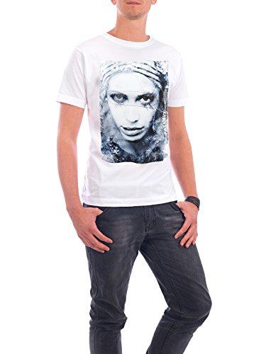 """Design T-Shirt Männer Continental Cotton """"Clown triste"""" - stylisches Shirt Fashion von Sandrine Pagnoux Weiß"""