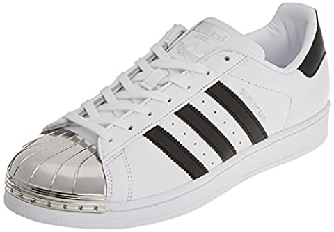 adidas Damen Superstar Metal Toe Trainer Low, Weiß (Footwear White/Core Black/Silver Metallic), 38 EU