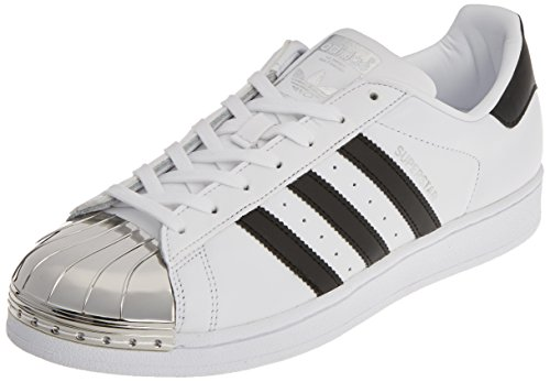 adidas Damen Superstar Metal Toe Trainer Low Weiß (Footwear White/core Black/Silver Metallic) 40 2/3 EU Damen-black Metal