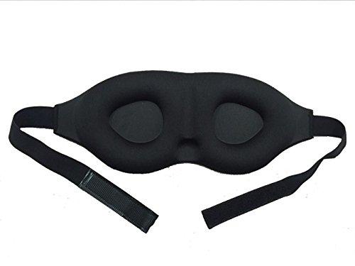 Bllomsem Augenmaske Schlafmaske 3D Sponge konturierte Komfortabler Augenklappe und Double Layer langsame Rückstoß -Schlafmaske für Männer & Frauen