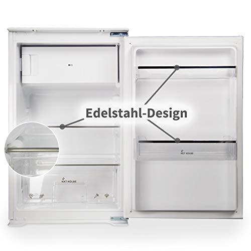 Einbau-Kühlschrank (A++, Mit Gefrierfach, Umweltfreundlich,88cm Höhe, 118 l, Automatikmodus, Türanschlag wechselbar) KS8803G KKT KOLBE