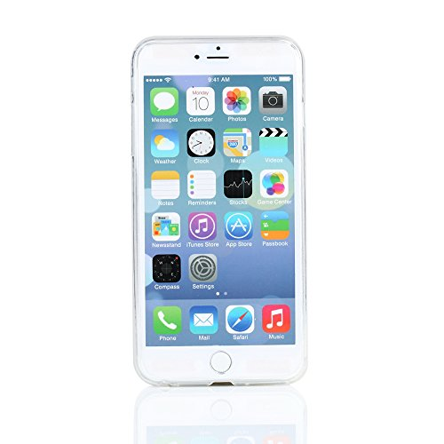 """Kit Me Out UK TPU Gel Case for Apple iPhone 6 Plus / 6S Plus 5.5"""" Inch - Clear Frosted Pattern Transparent Gefrostet"""
