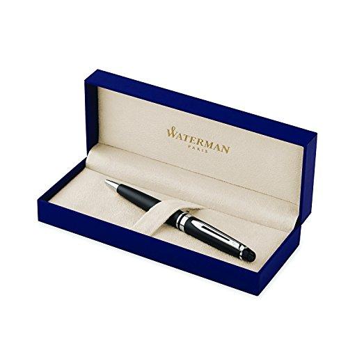 Preisvergleich Produktbild Waterman S0951900 Expert-Kugelschreiber (Strichstärke M, mattschwarz mit Palladiumzierteilen, blaue Tinte)
