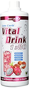 Best Body Nutrition Vital Drink, Drachenfrucht-Litschi, 1000ml Flasche