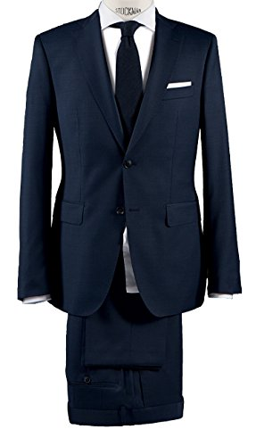 Michaelax-Fashion-Trade - Costume - Uni - Manches Longues - Homme Bleu - Blue - Blau (35)