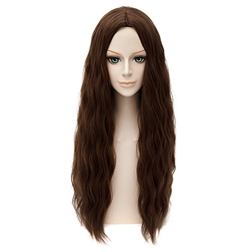 LanTing Cosplay Perücke The Avengers 2 Scarlet Witch Brown Lange Perücke Styled Frauen Cosplay Party Fashion Anime Human Costume Full wigs Synthetic Haar Heat Resistant Fiber