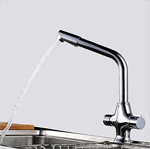 vanme européenne de Salle de Bain Robinet bronze simple trou robinet évier de cuisine chaude et froide robinet d'évier Robinet Robinet Pivotant