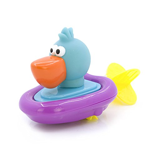 TOYMYTOY Badeente Badespielzeug Ente in Boot zum Aufziehen (gelegentliche Farbe) -