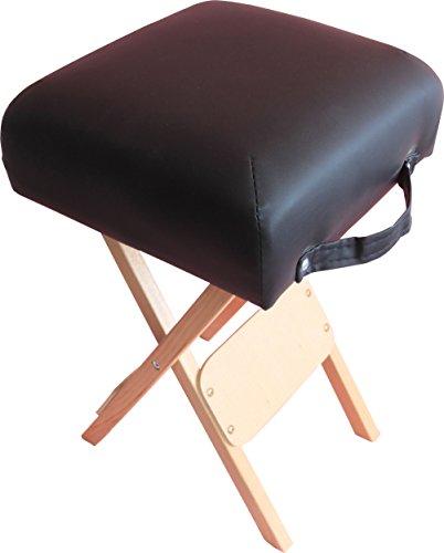 H-ROOT Massage faltbar Salon Hocker Tatoo Salon Reiki Schwedische Massage-Therapie (Schwarz) -
