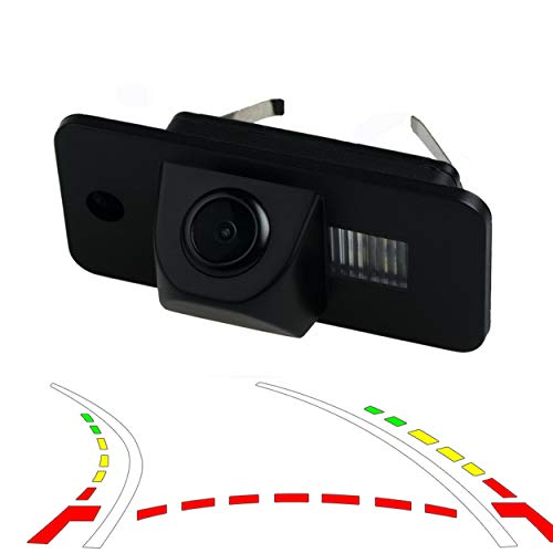 YUGUIYUN Auto Rückfahrkamera, Auto Rückansicht Kamera HD CCD Nachtsicht Rückansicht Rückfahrkamera für A3 A4 A6 A8 Q7 S6 RS4 RS6 Plus