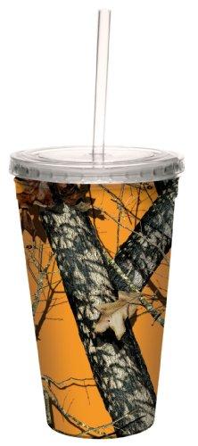 Tree-Free Grüße 16Oz, Acryl mit Muster von Mossy Oak Camo Artful Traveler Double-Walled Coole Tasse mit wiederverwendbaren Strohhalm, Mehrfarbig -