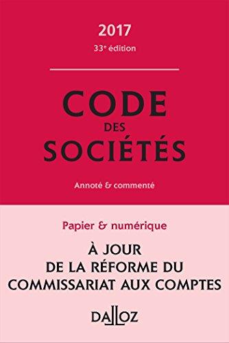 code-des-societes-2017-commente-33e-ed