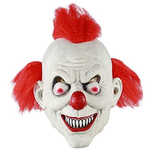 Kostüm Wirklich Billig Gruselige - Leezo Halloween Scary Maske Horror Realistische Sorcerer Clown Gesichtsmaske Kostüm für Spukhaus Room Escape Festival Kostüm Party
