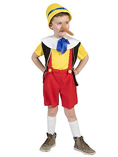 Costume da burattino bugiardo per bambino 8 a 10 anni (128-140)