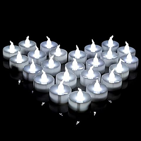 AGPtEK Lot 60 LED Tea Light Candle Cool White For Wedding Party Festival Decoration Occasions