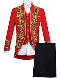 6cf7b223debd Xmiral Veste Costume Homme Slim vêtements européens Manteau Pantalon Gilet