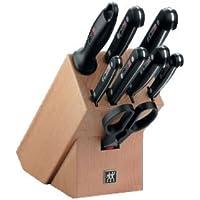 Zwilling 31665-000 Twin Gourmet Messerblock, 31665, 9-tlg, genietet, Vollerl, Friodur Klinge, 320 x 115 x 290 mm