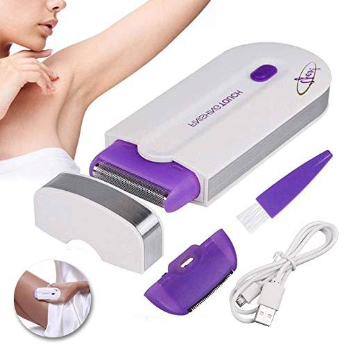 AllRight Epilierer Haarentfernungsgerät Damen Schmerzfrei Schnurlos mit Licht-Sensor Ganzkörper Gesicht Arm Bein