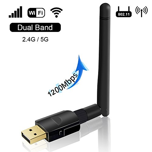 WiFi Stick1200Mbps, WLAN USB Stick Dual Band, WLAN Adapter mit High-Gain Antenne, unterst?