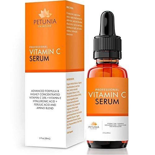 Age Spot Lightening Serum (Best Vitamin C Serum for Face With Vit E + Hyaluronic Acid + Ferulic Acid - Helps Repair Sun Damaged Skin & Fade Dark and Brown Spots - Moisturizing, Firming, and Hydrating Formula Fills in Fine Lines and Wrinkles - Skin Lightening, Whitening, Brightening Treatment for Acne Scar Removal, Discoloration, and Hyperpigmentation -USA-)