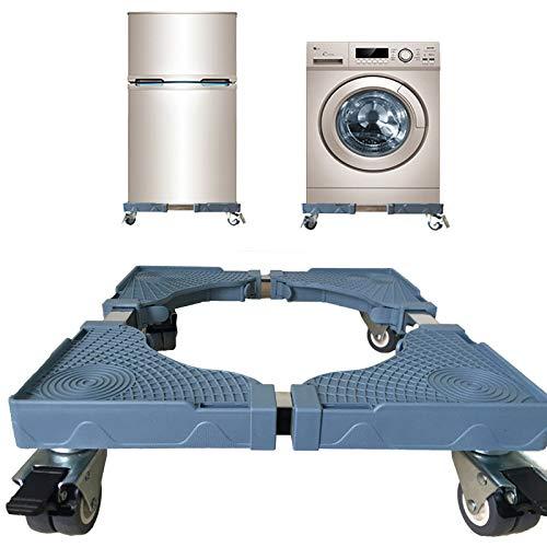 wolfjuvenile Beweglicher Waschmaschinensockel,Mit Rollen Verstellbarer Waschmaschinenfuß...