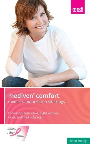 Medi Comfort Thigh High (Mediven Comfort 20-30 mmHg Thigh High Closed Toe : Natural Size V by Mediven)