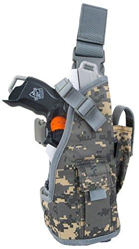 Blasterparts Multi Holster MX (links) - passend für Nerf Blaster wie Strongarm (digital camo grau) -