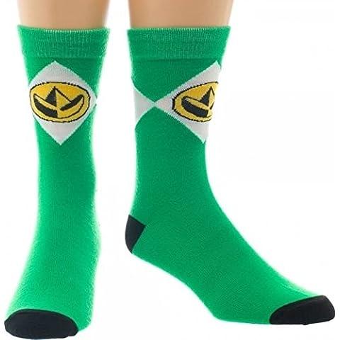 Mighty Morphin Power Rangers Green Crew Calcetines